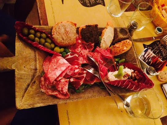 "Tuscan ""Tagliere"" platter of artisan meats and cheeses."