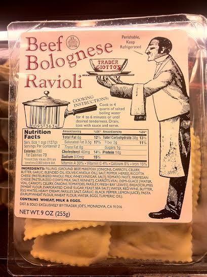 beef bolognese ravioli
