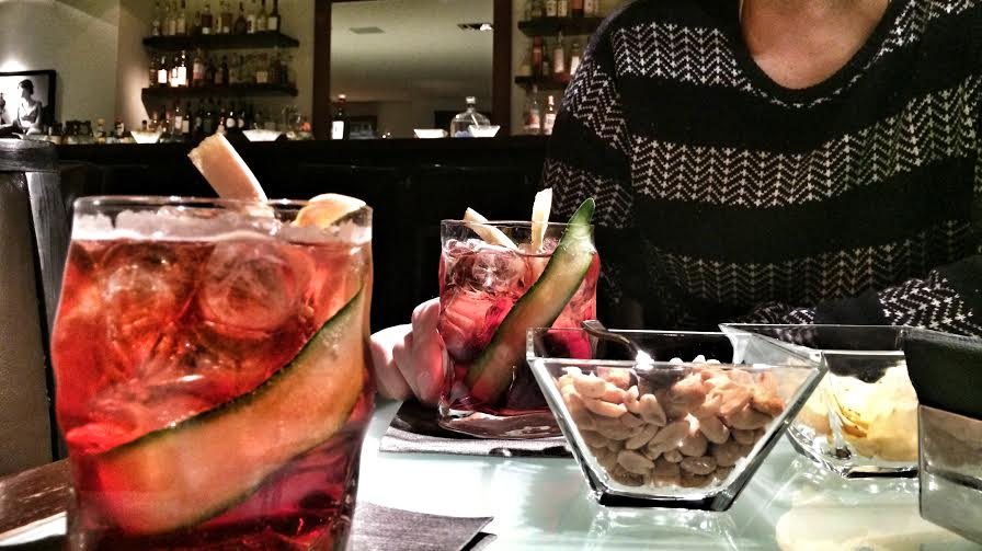 Craft libations at Fusion and the token Italian hairy chest (sorry, Andrea)