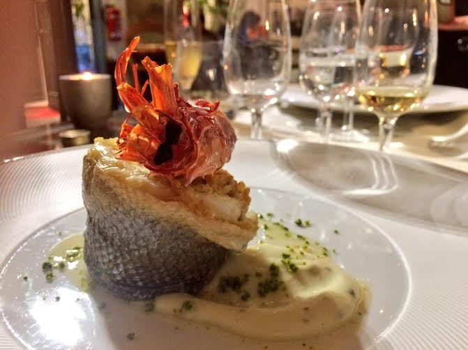 gambero rosso sea bass grappa florian dinner by Curious Appetite food blog in Florence