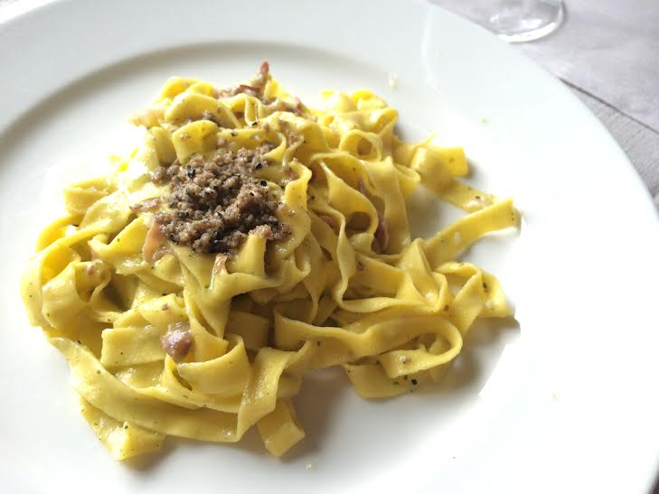 tagliatelle with summer truffle florence
