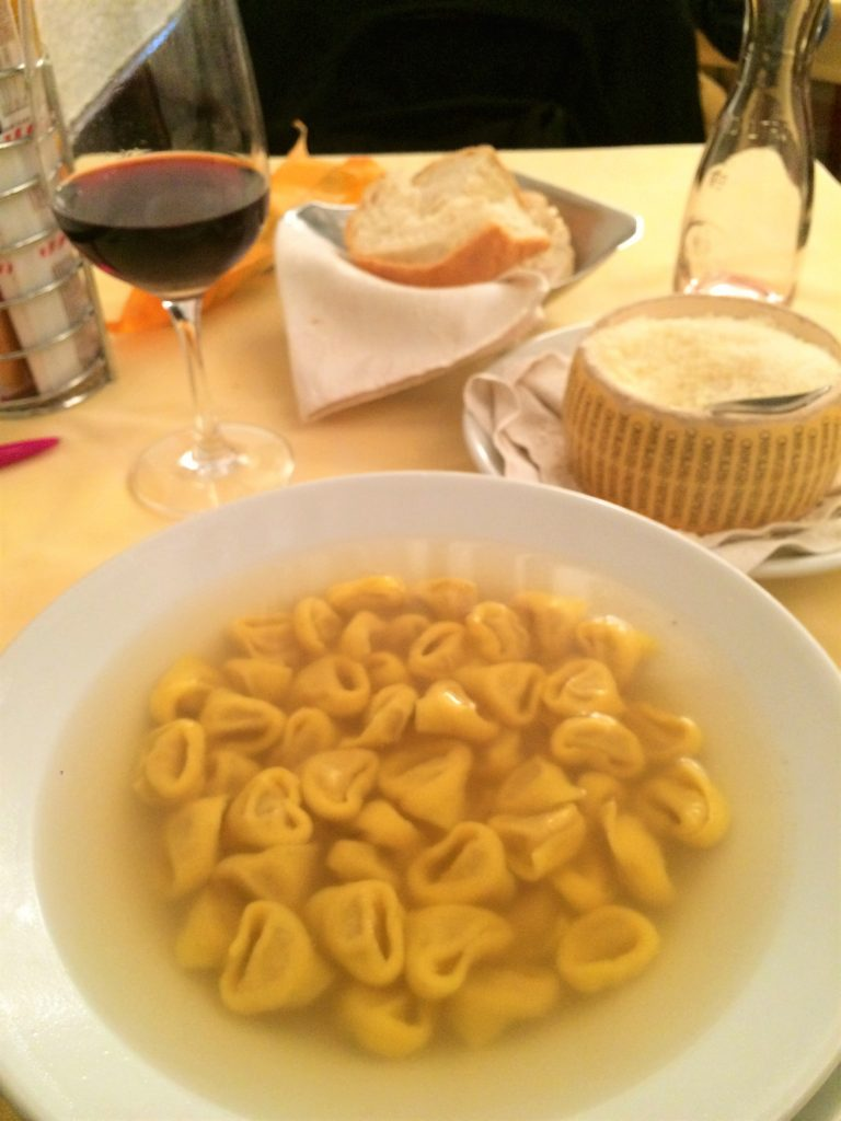 The best tortellini I've had so far in Bologna- Trattoria alla Santa. I spotted mammas in the kitchen and I suspect they make their own broth since they make beef bollito in house...