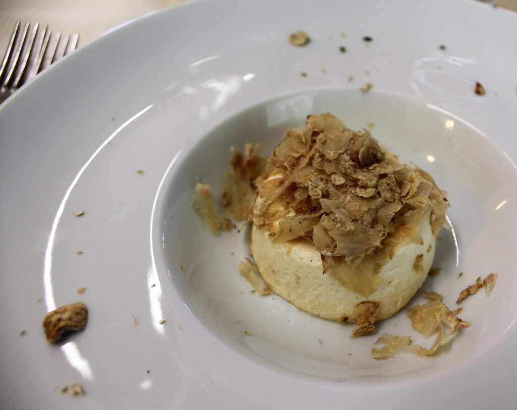 Appetizer: Parmesan Flan with local white truffles