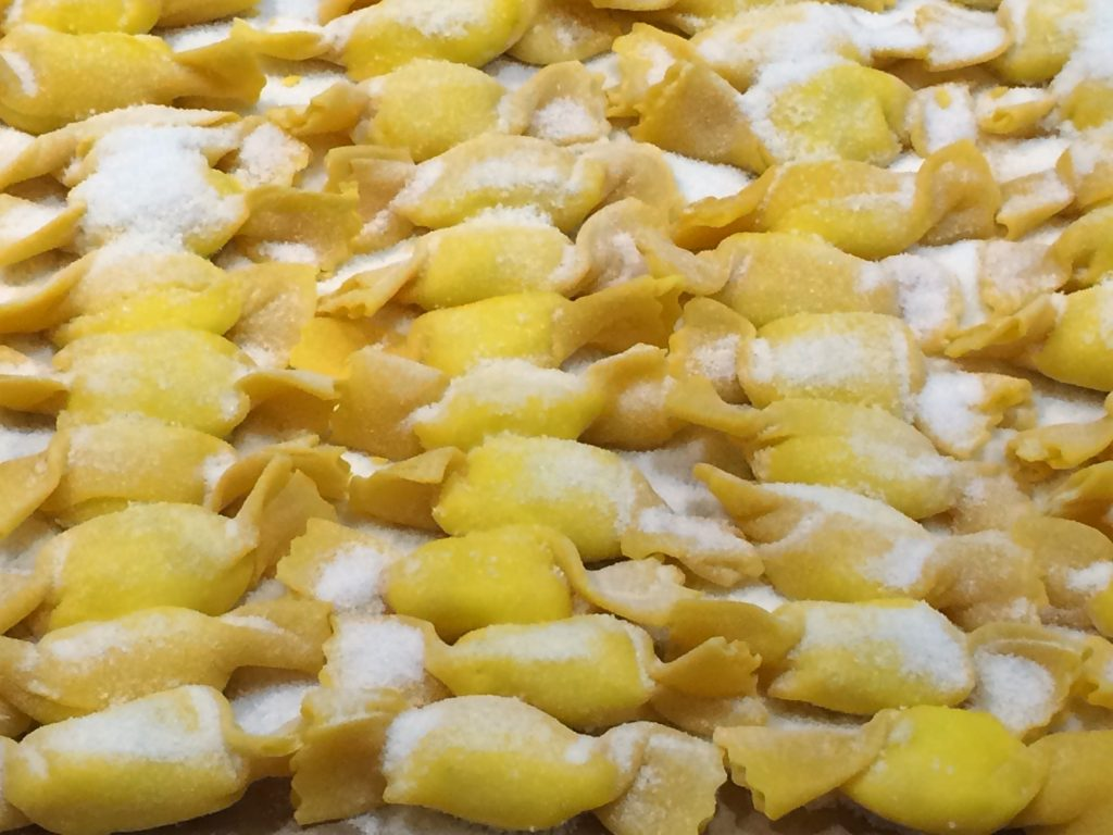 """caramelle"", candy-shaped pastas"