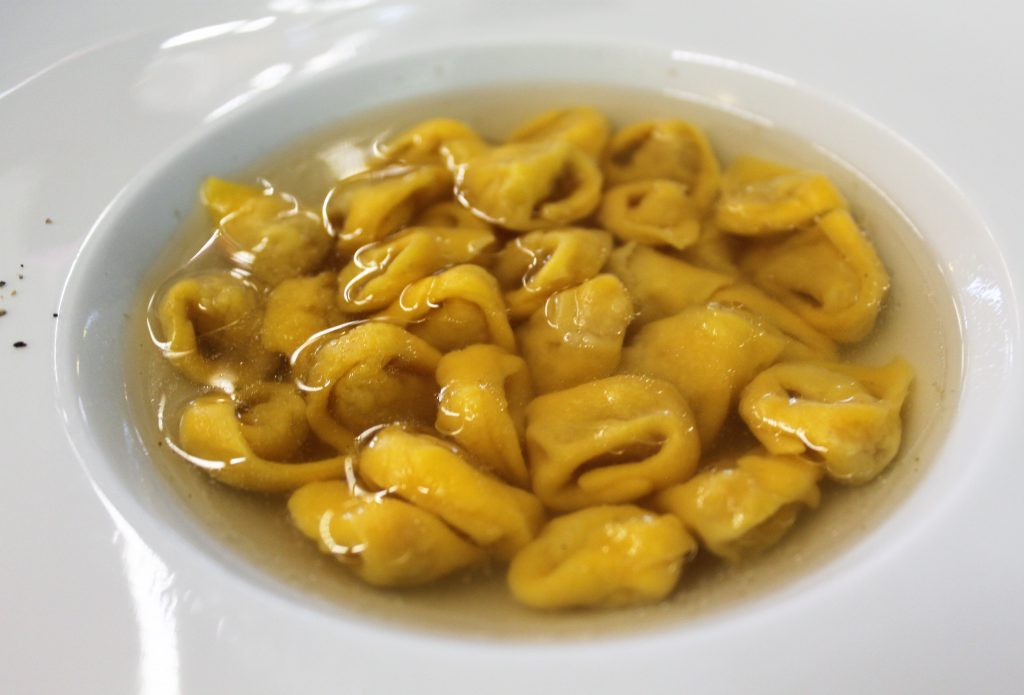 tortellini in brodo- after a month of eating in Bologna, these were the best. In the mountains in Castiglione dei Pepoli at La Taverna del Cacciatore