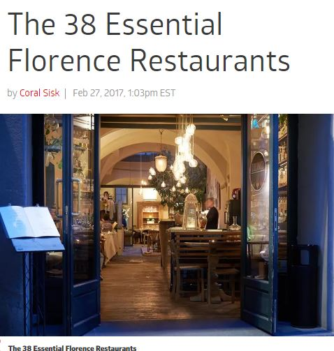 38 Best Restaurants In Florence For Eater