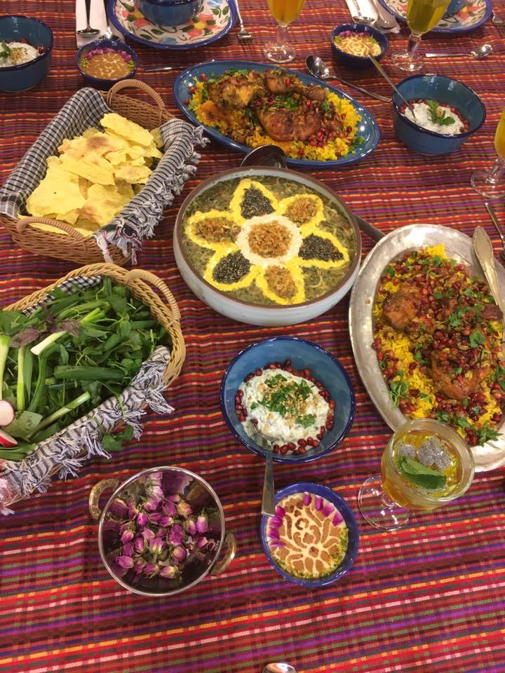 persian table of food