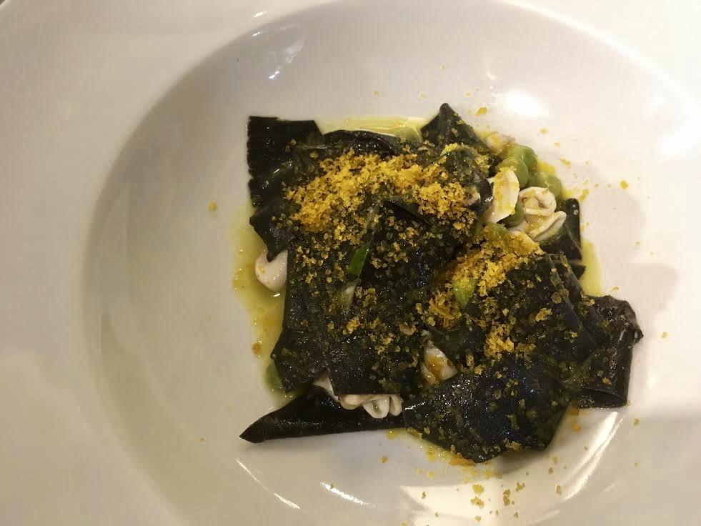 black squid ink pasta aroma firenze