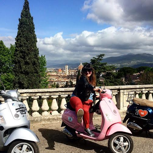 vespa coral we like tuscany florence view